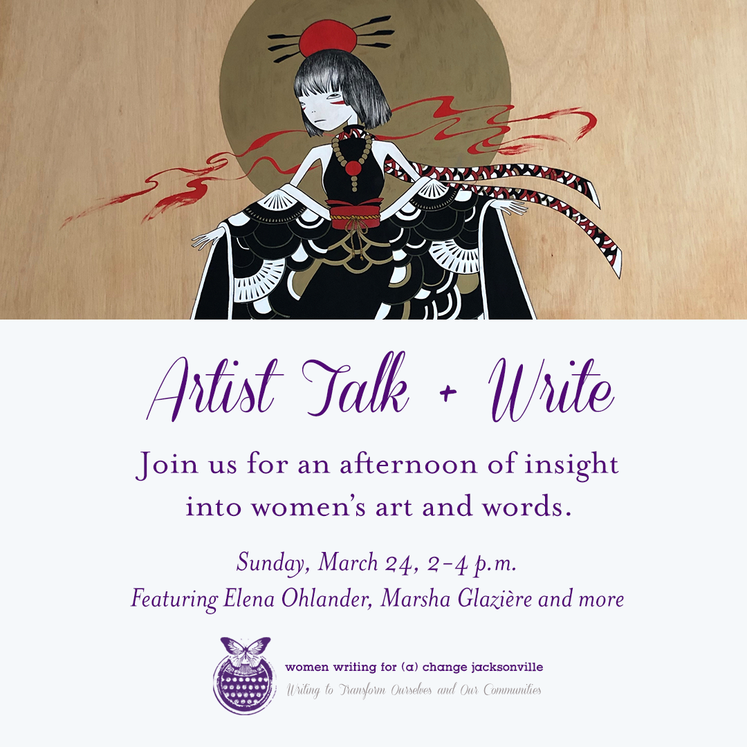 Artist Talk + Write this Sunday!